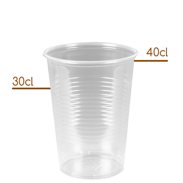 Plastik Ølglas 30-40cl til fadølsanlæg