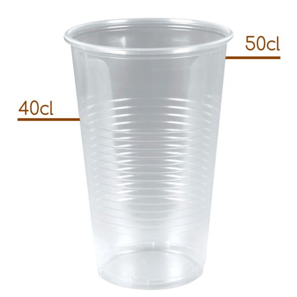 Plastik Ølglas 40-50cl til fadølsanlæg